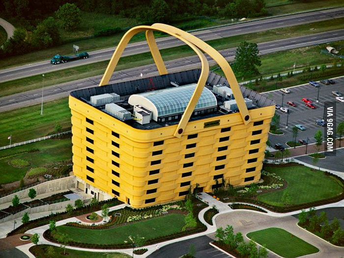 This basket is the office building of Longaberger Company.