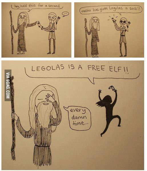 Legolas is a FREE ELF