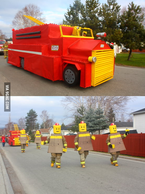 Christmas parade of a local fire department.