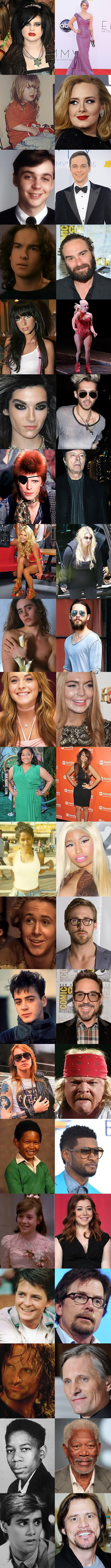 Celebrities change over time