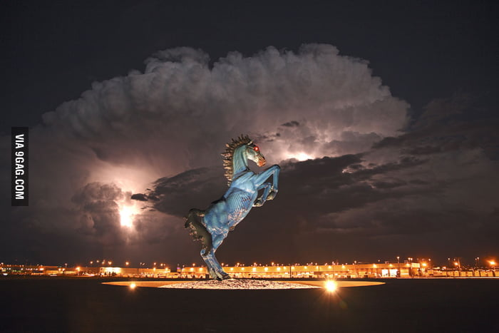 The Blue Mustang at Denver International Airport, Colorado.