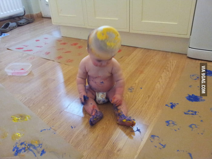 I'm sure this baby will grow up as an artist.