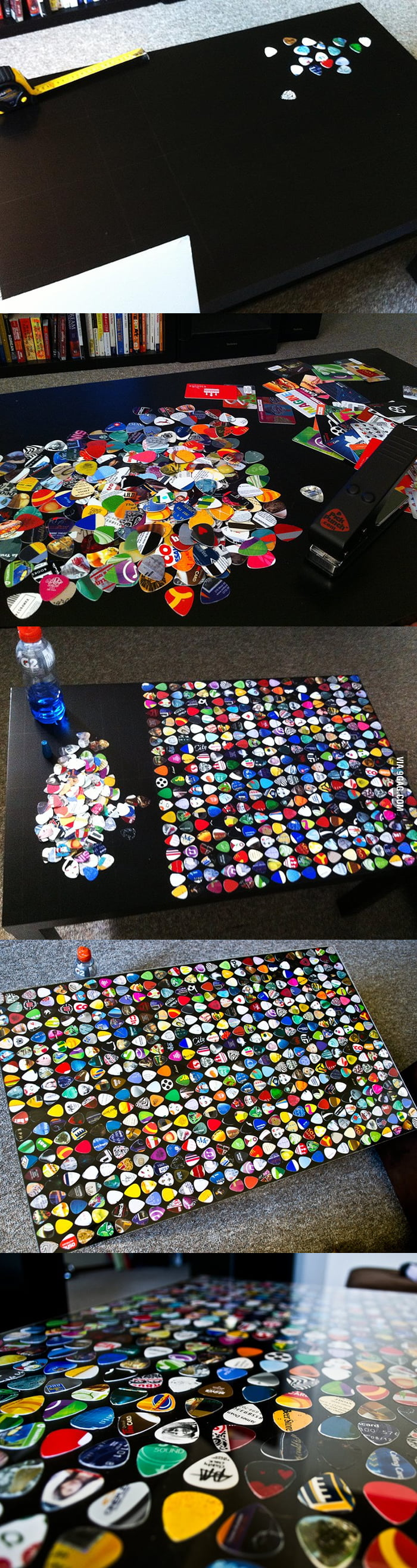 Awesome guitar pick table!