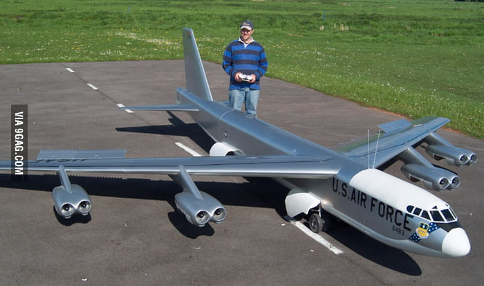 This is a pretty big radio controlled model plane.
