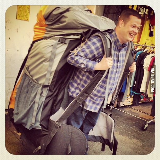 That's a pretty big backpack!