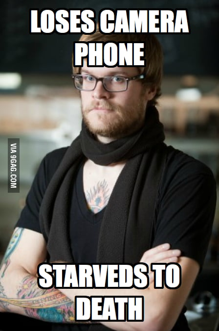 Hipster Barista loses his camera phone.