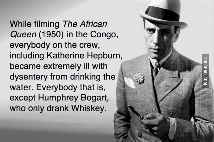 Drinking alcohol like a boss.