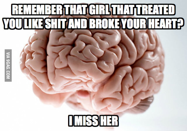 What Scumbag Brain does to me on a lonely winter night.