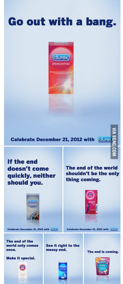 Who's Ready For the End? Durex is!
