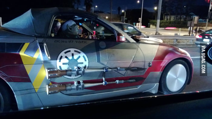 Saw Yoda driving a pretty cool car tonight.