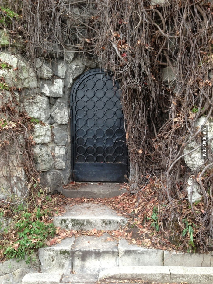 I want to believe a fantasy world exists behind this door.