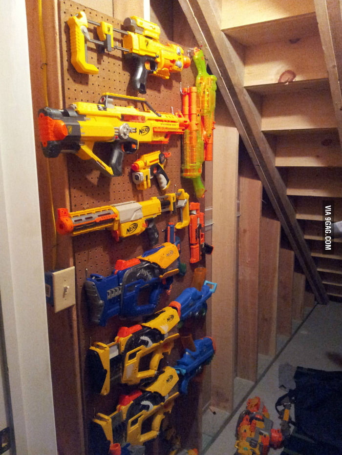 My friend's weapon storage.
