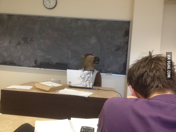 My OS teacher during my final exam.