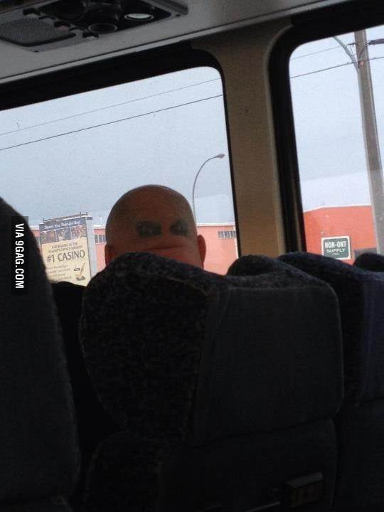 This guy looked at me the whole ride.