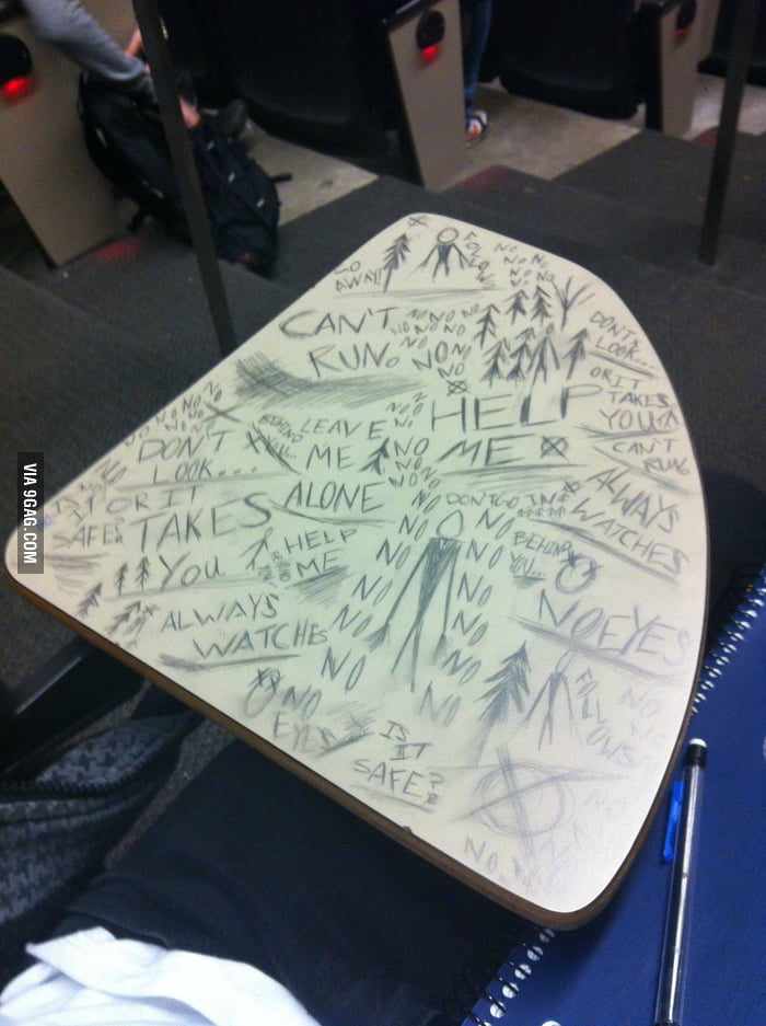 Walked in to take a final and this is on the desk.