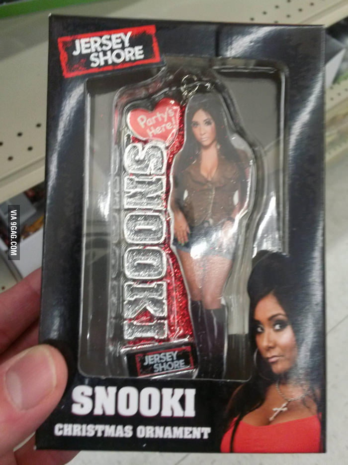 Now I can hang Snooki... onto my Christmas tree.