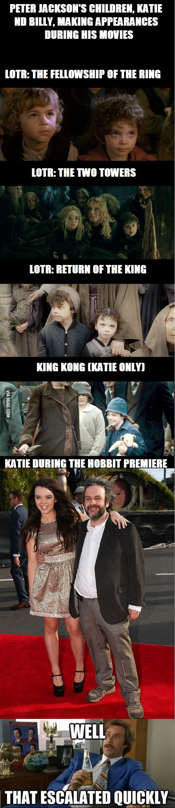 Peter Jackson's kids throughout the years
