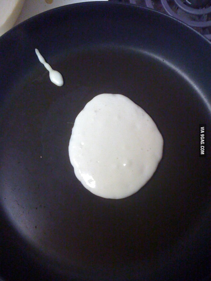 Was making pancakes and...