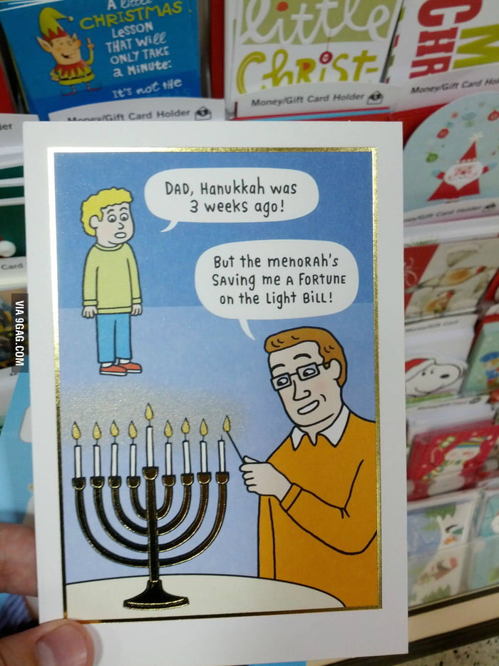 Found this Hanukkah card at a local book store.