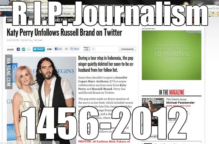 R.I.P. Journalism