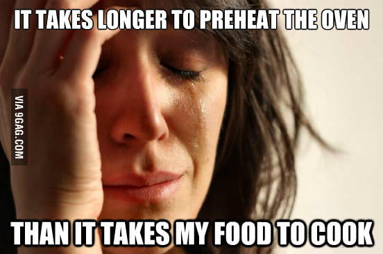 First world problems in the kitchen.