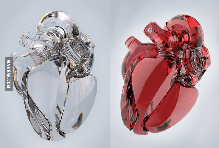 A heart of glass.