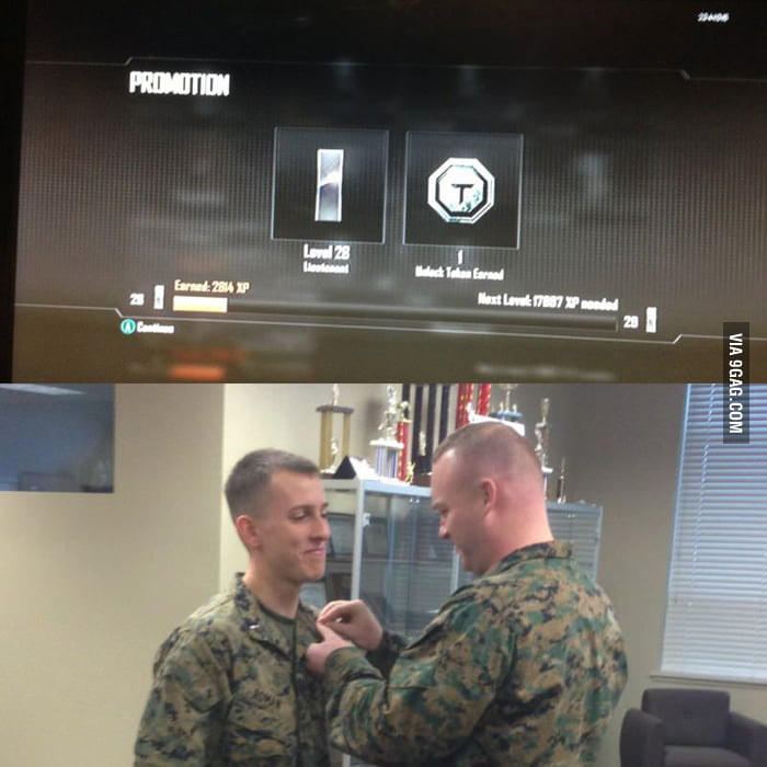 How I feel when getting promoted in games.