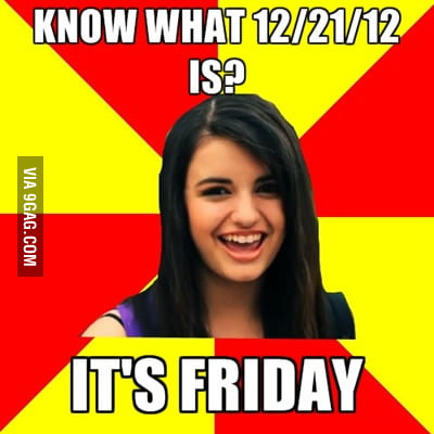 Rebecca Black on apocalypse