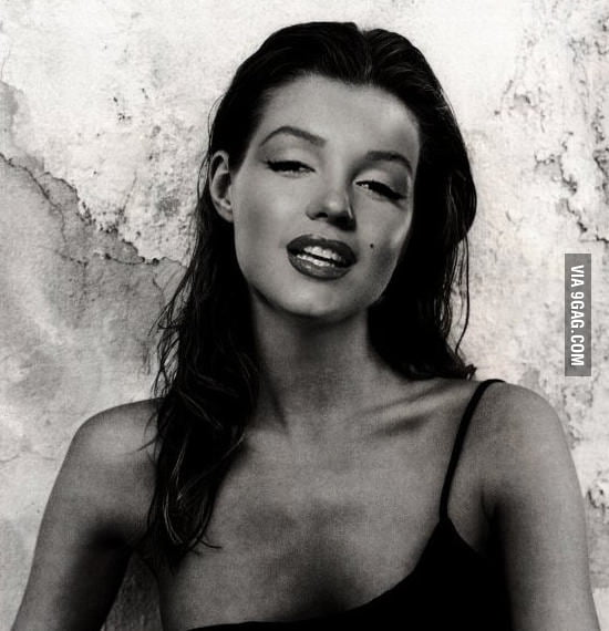 If Marilyn Monroe has dark hair.
