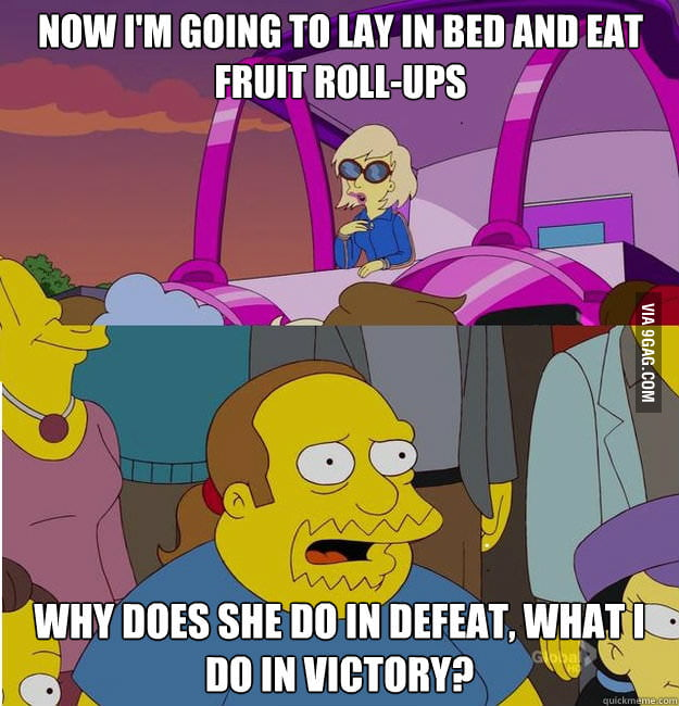 Lady Gaga vs Comic Book Guy