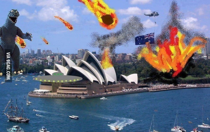 Not photoshopped picture of Australia at the moment.