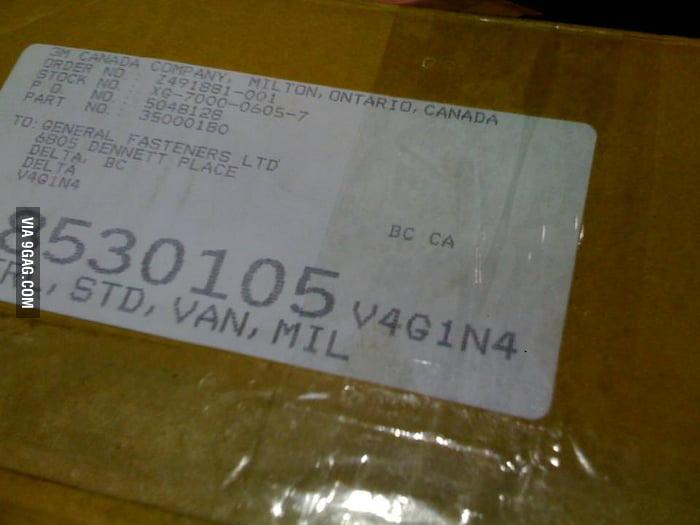 Best. Postal Code. Ever.