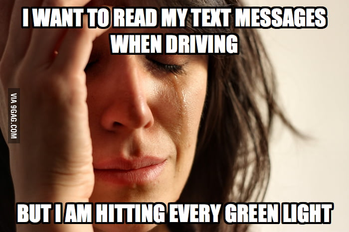 First World Driving Problems