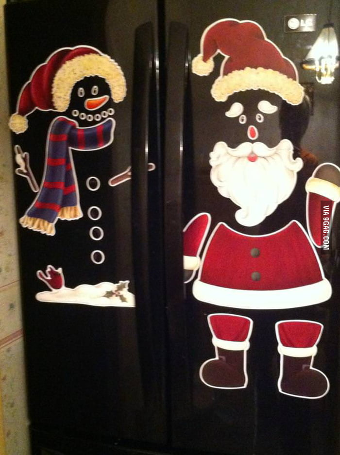 I think they were meant for a white fridge.