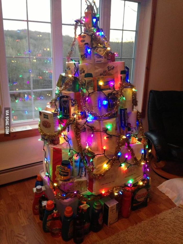 Awesome Christmas tree made by parents during their visit.