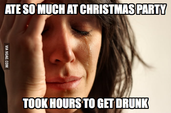 First World Christmas Party Problems