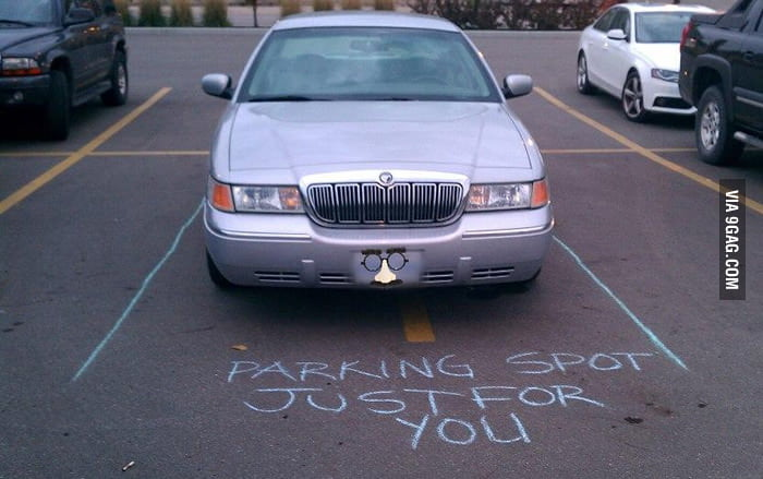 Parking spot just for you.