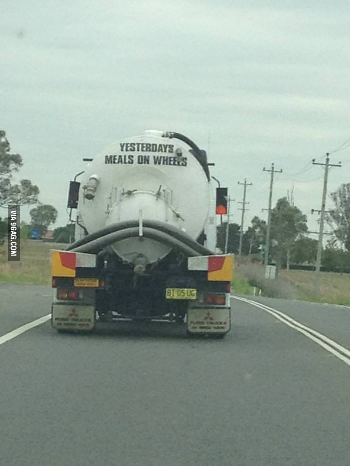 This sewerage truck got a sense of humor.