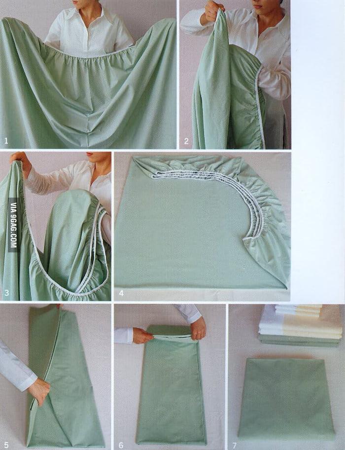 Folding bed sheet like a boss!
