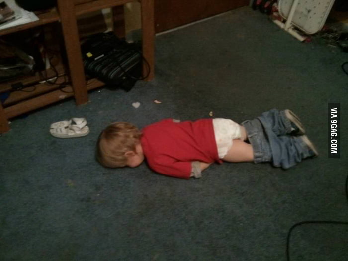 My friend's son after a very long day.