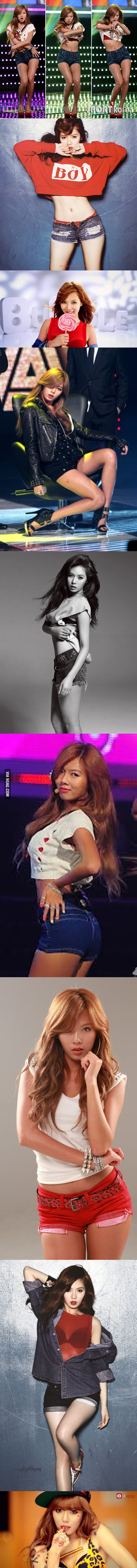 Hyuna the chick from Gangnam Style