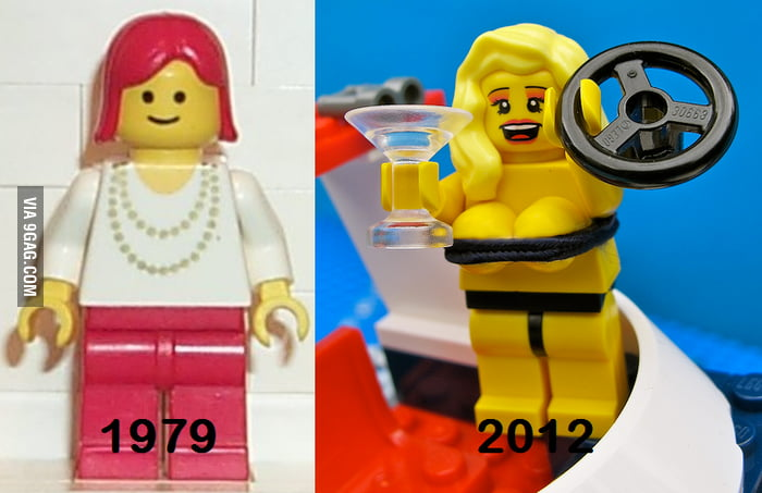 Evolution of LEGO minifigs