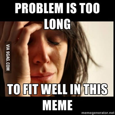 First world meme problems.