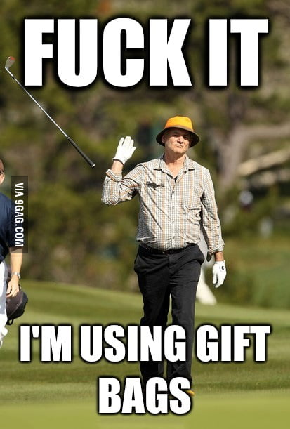 How I usually feel about wrapping Christmas presents.