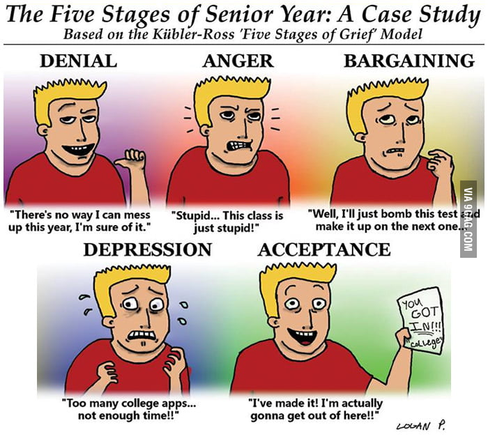 The Five Stages of Senior Year: A Case Study