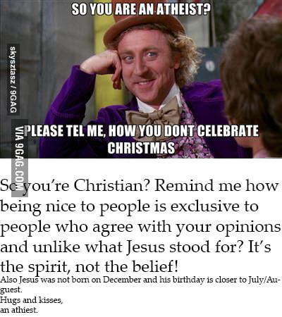 We like being nice to people regardless of belief