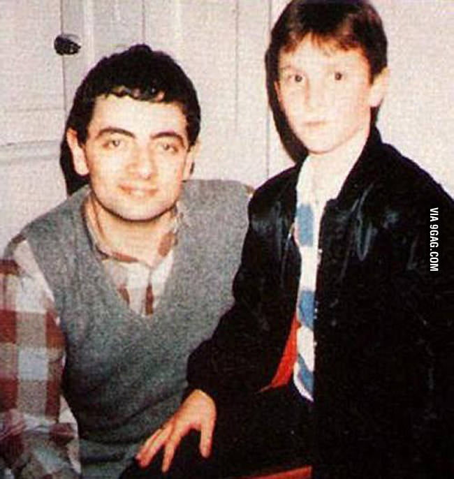 Rowan Atkinson (Mr.Bean) and Christian Bale
