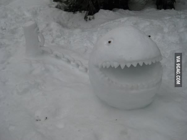 Chain Chomp Snowman