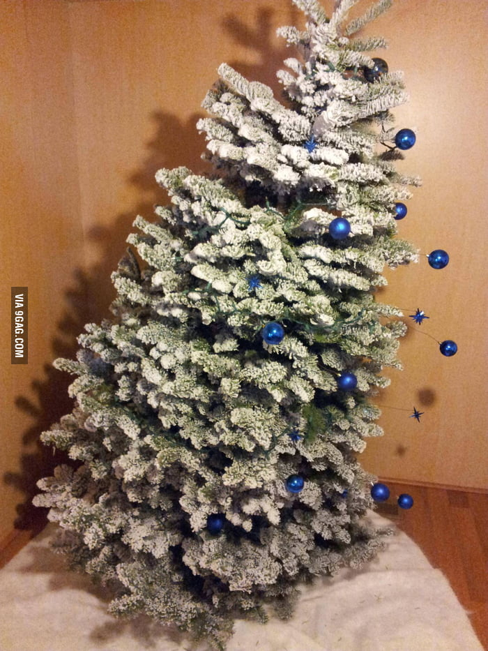 The Christmas tree was leaning, so I improvised.