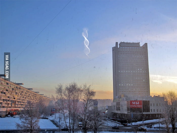 Spotted a spiral cloud in Moscow.